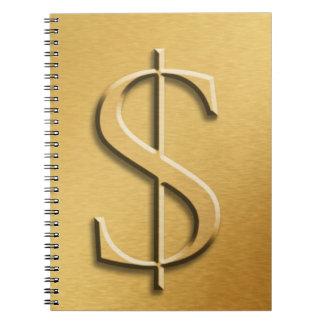 Money Book Spiral Note Book