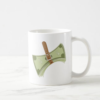 Money Budget Tightening Belt Metaphor Coffee Mug