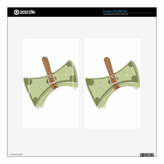 Money Budget Tightening Belt Metaphor Kindle Fire Decal