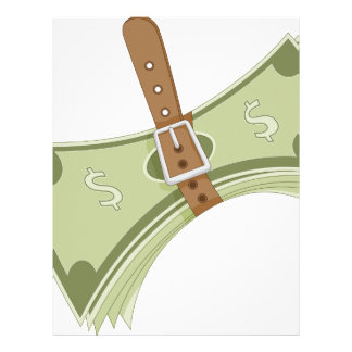 Money Budget Tightening Belt Metaphor Letterhead
