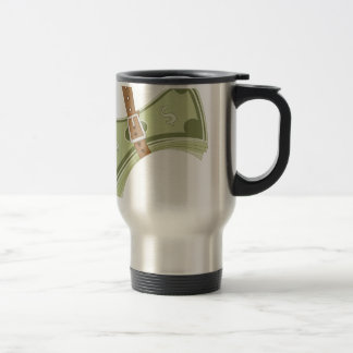 Money Budget Tightening Belt Metaphor Travel Mug