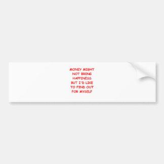 money car bumper sticker
