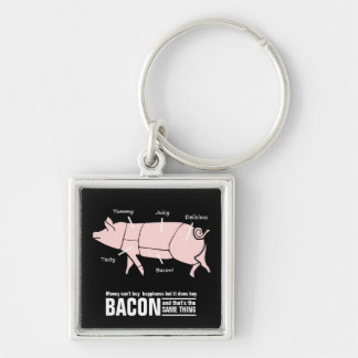 Money Buys BACON which equals Happiness Keychain
