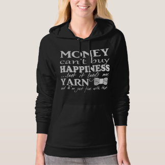 Money Can't Buy Happiness • Crafts & Yarn {Dark} Hoodie