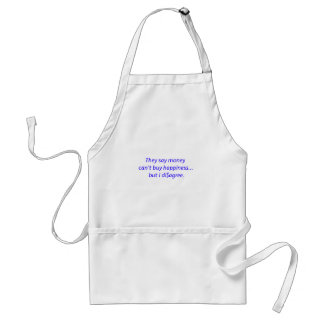 Money Can't Buy Happiness Di$agree Black Blue Red Adult Apron