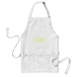 Money can't Buy Happiness Di$agree Yellow Green Pi Adult Apron