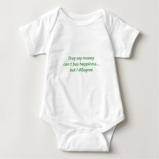 Money can't Buy Happiness Di$agree Yellow Green Pi Baby Bodysuit