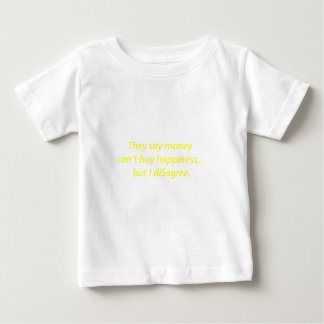 Money can't Buy Happiness Di$agree Yellow Green Pi Baby T-Shirt