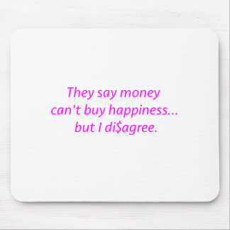 Money can't Buy Happiness Di$agree Yellow Green Pi Mouse Pad