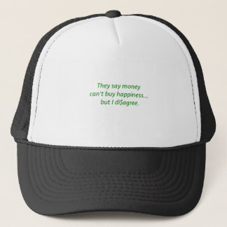 Money can't Buy Happiness Di$agree Yellow Green Pi Trucker Hat