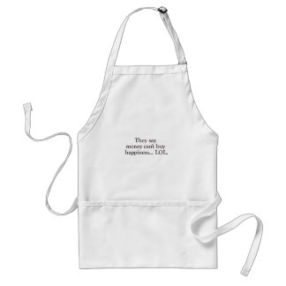 Money Can't Buy Happiness LOL Black Blue Red Adult Apron