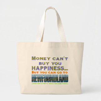 MONEY CAN'T BUY HAPPINESS.png Large Tote Bag