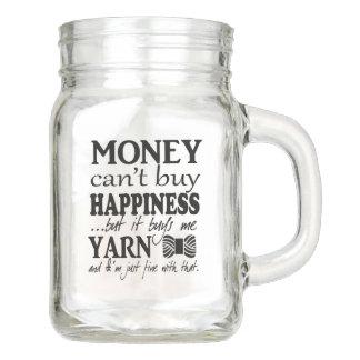 Money Can't Buy Happiness • Yarn & Crafts Mason Jar