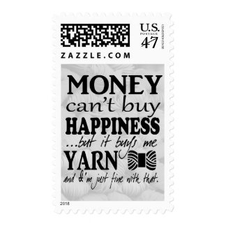 Money Can't Buy Happiness / Yarn Crafts Postage