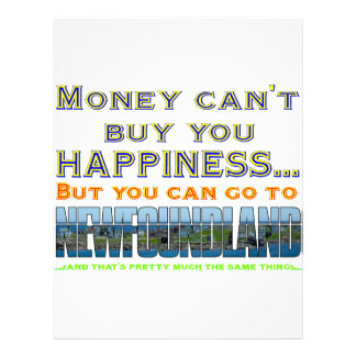 MONEY CAN'T BUY YOU HAPPINESS LETTERHEAD
