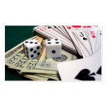 Money Cards Dice Business Card