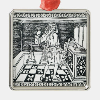 Money Changer Metal Ornament