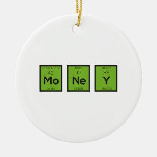 Money Chemical Element Funny Z3z08 Ceramic Ornament