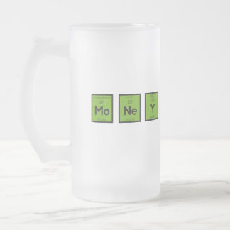 Money Chemical Element Funny Z3z08 Frosted Glass Beer Mug
