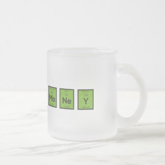 Money Chemical Element Funny Z3z08 Frosted Glass Coffee Mug
