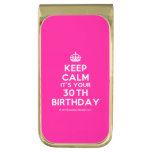 [Crown] keep calm it's your 30th birthday  Money Clip