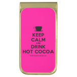 [Cup] keep calm and drink hot cocoa  Money Clip