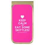 [Love heart] keep calm and eat some skittles!  Money Clip