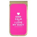 [Love heart] keep calm and i love my body  Money Clip