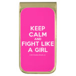 keep calm and fight like a girl  Money Clip