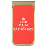 [Crown] keep calm and eat popsick  Money Clip