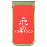 [Crown] keep calm and eat your food  Money Clip