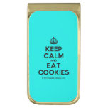 [Crown] keep calm and eat cookies  Money Clip