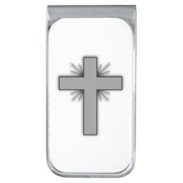 Money clip w/Gray-flared cross