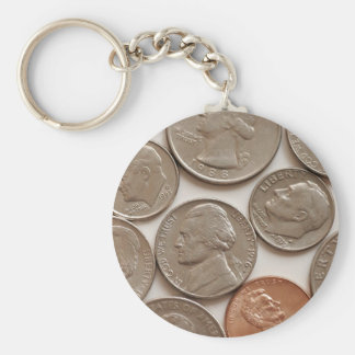 Money Coins Keychain