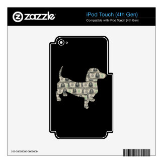 Money Dachshund Wall Street Decal For iPod Touch 4G
