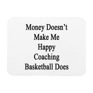 Money Doesn't Make Me Happy Coaching Basketball Do Rectangular Photo Magnet