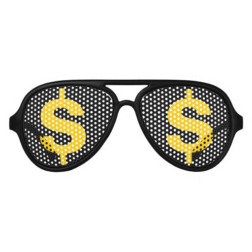 money dollar sign in the eyes party shades zazzle