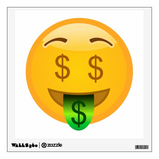Money Emoji Wall Decal Zazzlecom - Emoji wall decals