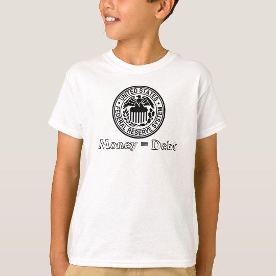 Money Equals Debt T-Shirt