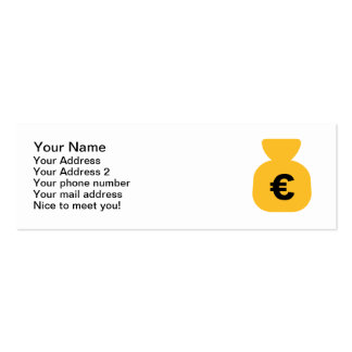 Money Euro Double-Sided Mini Business Cards (Pack Of 20)