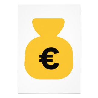 Money Euro Custom Invitations