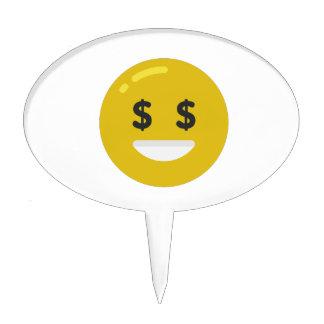 money eye emoji cake topper