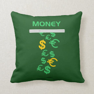Money Fall from Iphone Throw Pillow