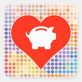 Money Fan Square Sticker