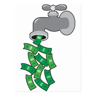 Money Faucet Postcard