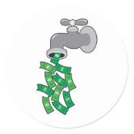 Money Faucet Sticker