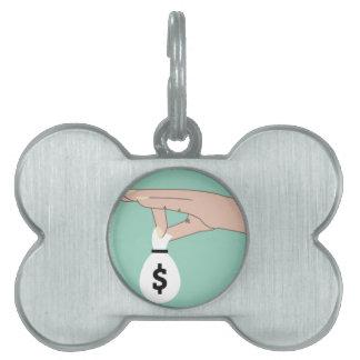 Money Fund Transfer Pet Name Tag