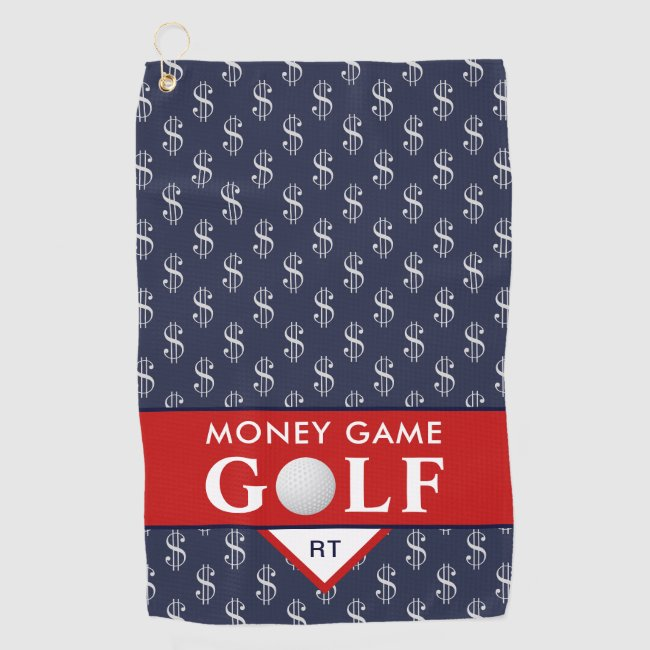 Money Game Golf with Your Monogram Golf Towel