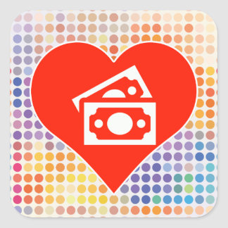 Money Gift Square Sticker