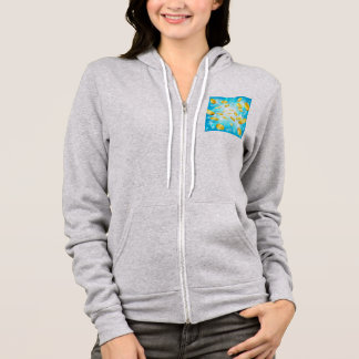 Money Gold Coins and Stars Jackpot Background Hoodie
